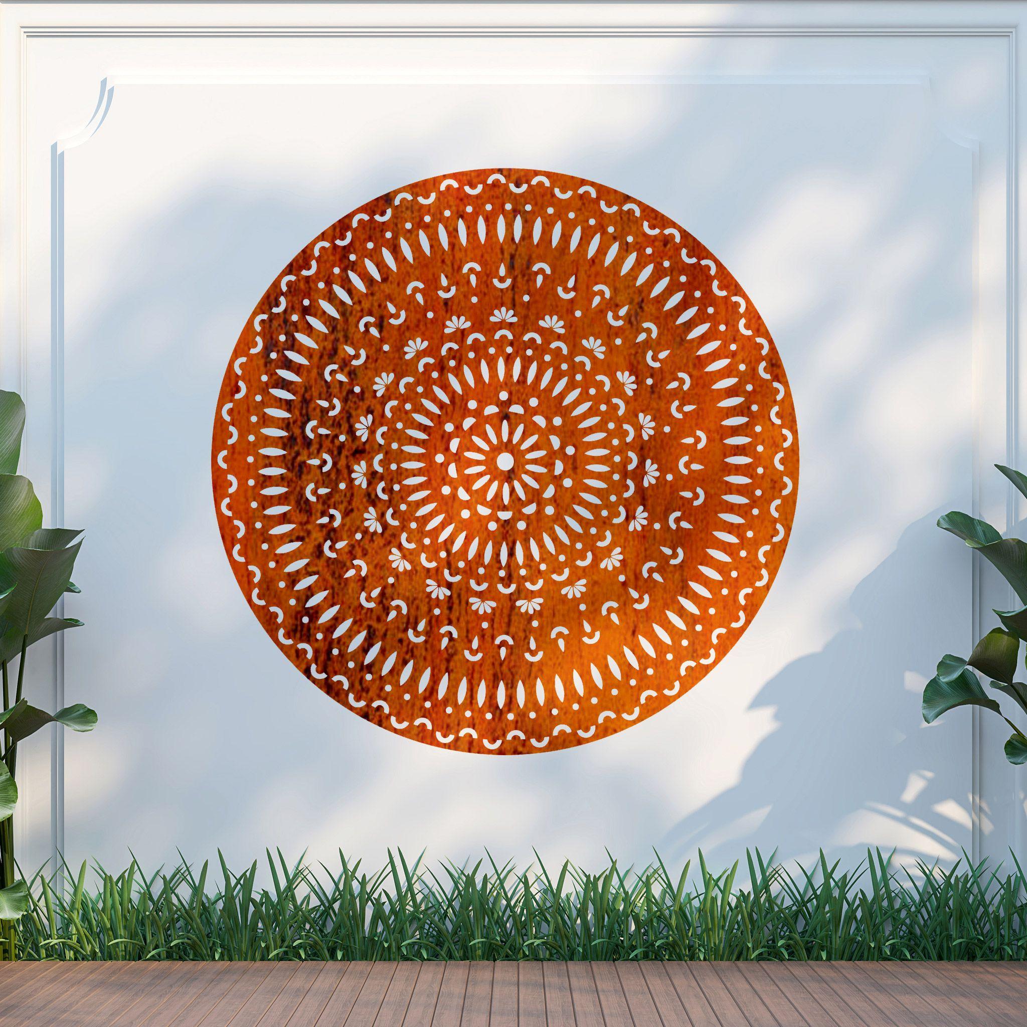 Mandala metal-garden-art-fence-wall