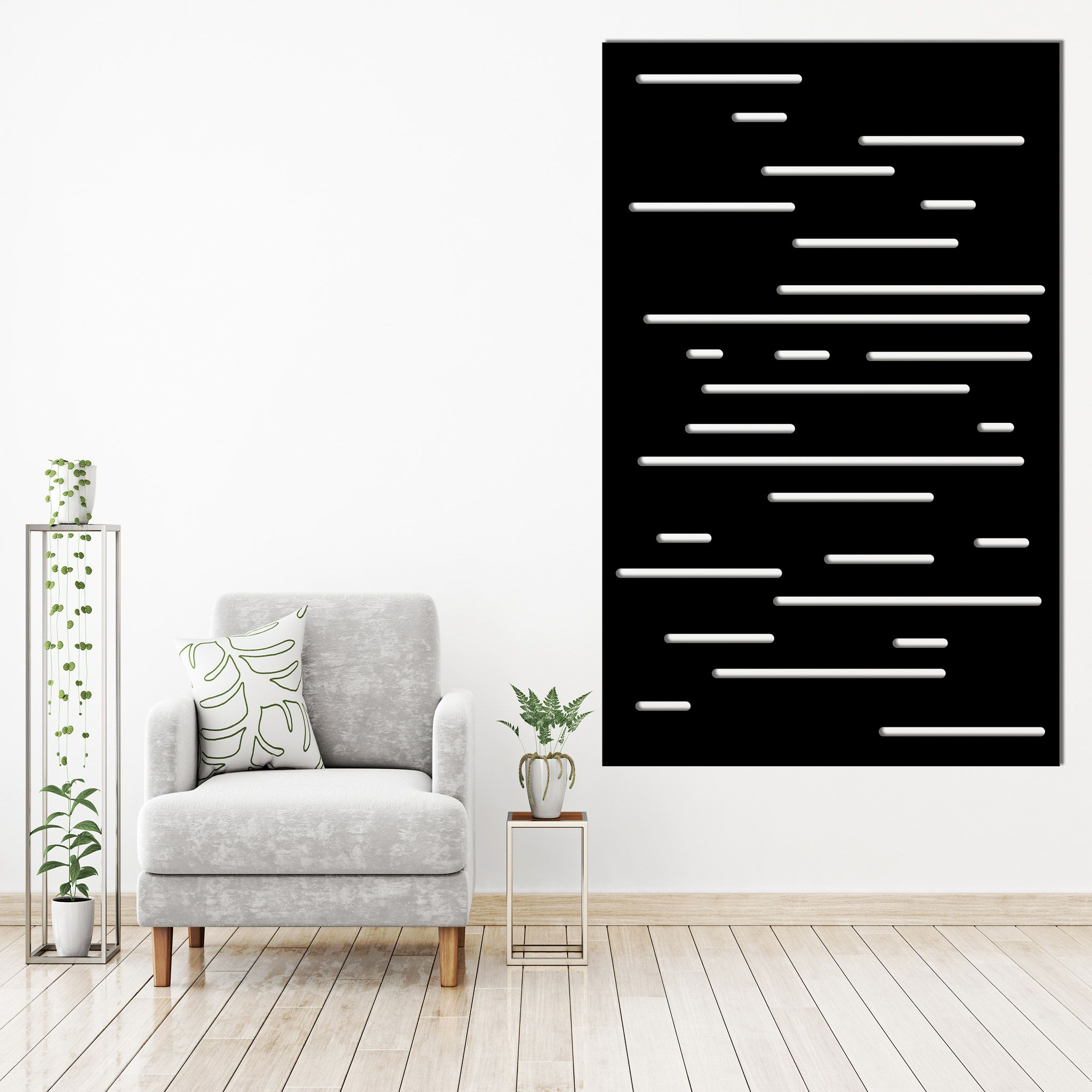 Vertical Lines-metal-wall-art-fence