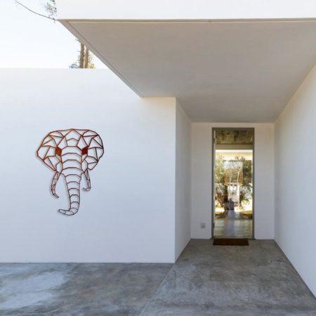 Geometric-Elephant-Face