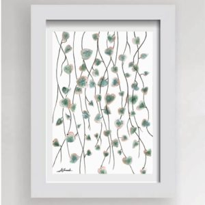 String of Hearts Print